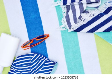 A studio photo of a beach towel