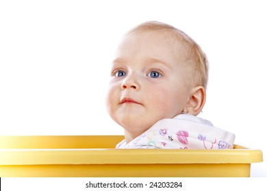 studio photo of beauty little baby