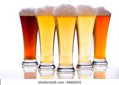 Studio photo of beer glasses