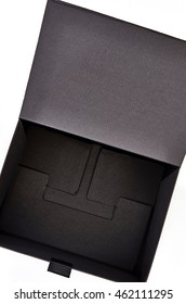 A studio photo of a black box