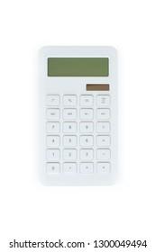 A studio photo of a business calculator