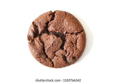 A studio photo of chocolate cookies