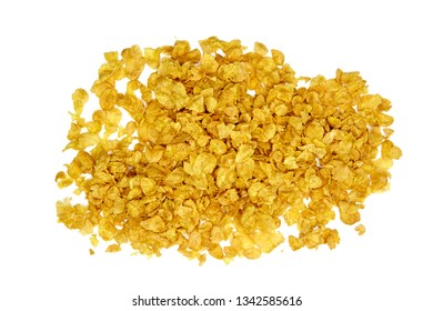 A studio photo of corn flakes