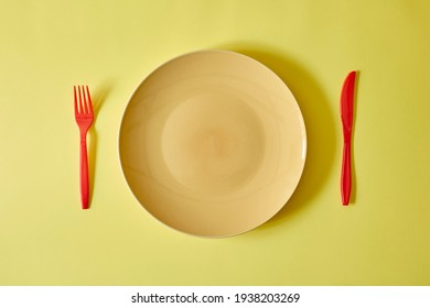 A studio photo of dinner plate