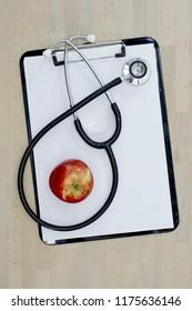 A studio photo of a doctors stethoscope