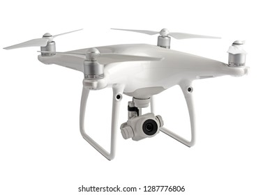 Studio photo of drone on white background