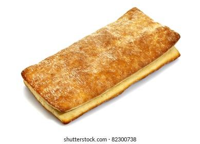 Studio photo of fresh bread on a white background