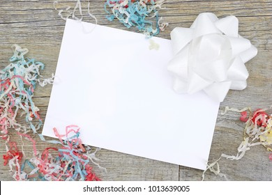 A studio photo of a greeting card