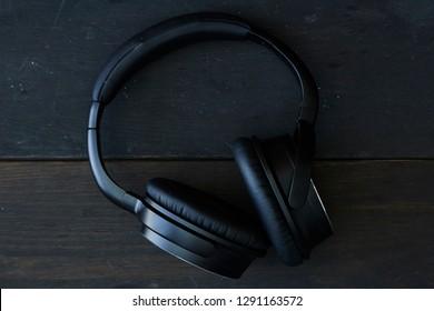 A studio photo of headphones