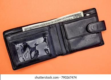 A studio photo of a mans wallet