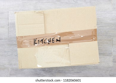 A studio photo of a packing box