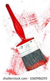 A studio photo of a paint brush