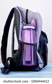 A studio photo of a sports water bottle