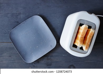 A studio photo of a toast on a plate