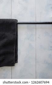 A studio photo of a towel rail