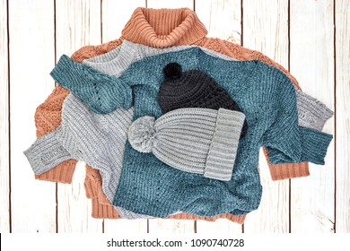 A studio photo of a woolen jumper