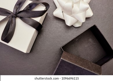 A studio photo of a wrapped gift box