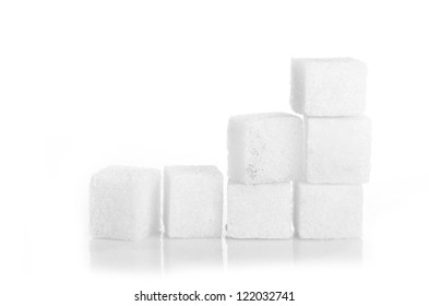 Studio photography of a lump sugar isolated on white background