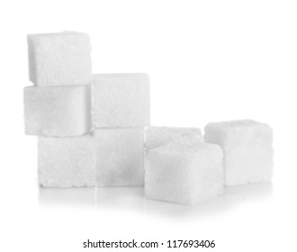 Studio photography of a lump sugar pile in light back
