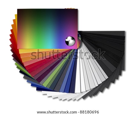 Studio Photography Spread Color Chart Isolated Stock Photo Edit Now