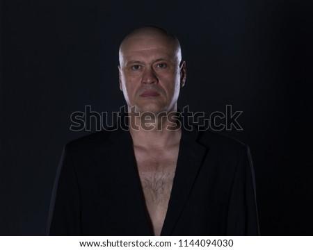 Studio Portrait 50 Year Old Man Stock Photo Edit Now 1144094030