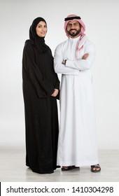 Studio Portrait of arab couple