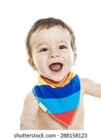 Studio Portrait Of Baby Boy