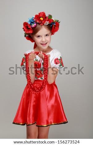 6f9ba1729df8 Studio Portrait Cute Smiling Little Girl Stock Photo (Edit Now ...
