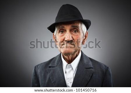 e4de9115f5f Studio Portrait Expressive Old Man Stock Photo (Edit Now) 101450716 ...