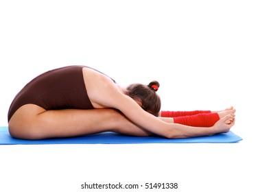 Studio portrait of a fitness girl