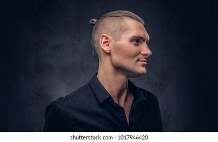 Studio portrait of a handsome man.