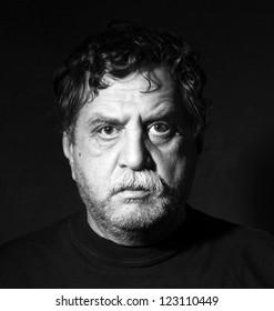 Studio portrait of middle age man