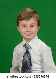 Studio portrait of the school boy