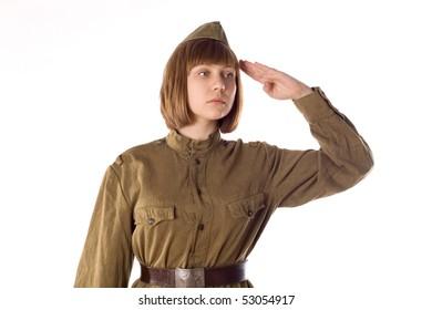 Studio portrait of a soldier