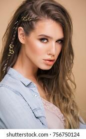 studio portrait of a stylish young woman