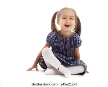 studio portrait two years old girl