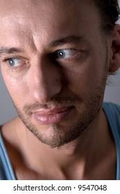 Studio portrait of a young adult man