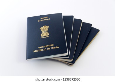 Studio product photography of Multiple Indian Passports