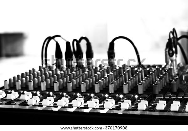 Studio Radio Mixing Audio Music Mixer Stock Photo (Edit Now