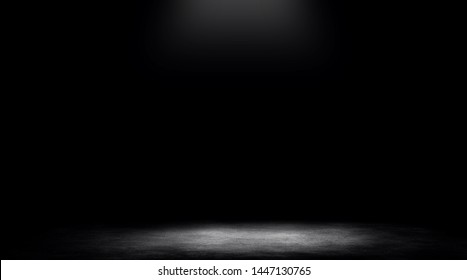 studio room gradient background. Abstract black white gradient background.