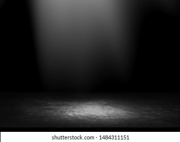 studio room gradient background. Abstract black white gradient background