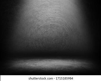 Studio room gradient background. Abstract black white gradient background.