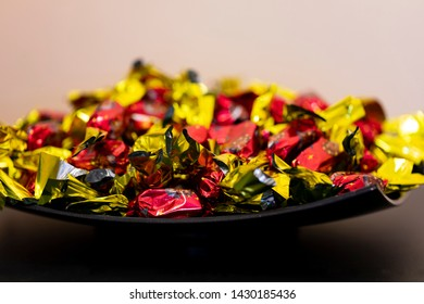 Studio shoot Dec 11 2018:   Christmas chocolate fondant  individually wrapped  in a bowl