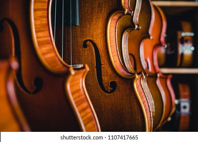 Studio shooting violin