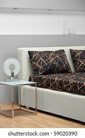 A studio shot of a bed