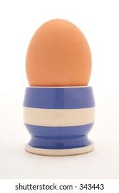 Studio shot of boiled egg