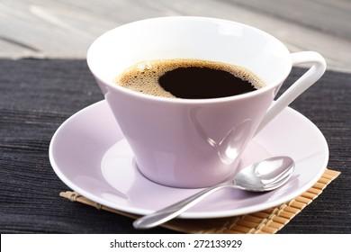 Studio shot of cup of coffee