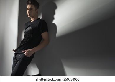 Studio shot of a fashionable man