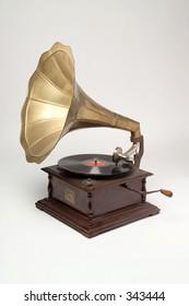 Studio shot of gramophone