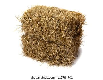 Studio shot of hay, isolated on white.
